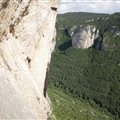 Climbing reminder giant Canyon green gorges of Tarn Millau France